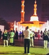 South African Drumming Team performs at the Al Majez Waterfront, Sharjah